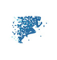 pixel run logo vector image vector image