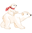 Polar Bear Mom and Baby vector image vector image