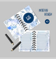 printables space theme planner with hand drawn vector image vector image