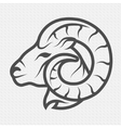 ram symbol logo emblem vector image vector image