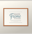 realistic frame for paintings or photographs vector image