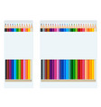 realistic style sharpened coloured crayons or vector image