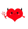 red heart face head icon set devil angel evil vector image vector image