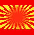 red yellow pop art retro background cartoon vector image