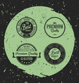 retro labels with grunge background vector image vector image
