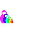 russian nesting dolls matrioska set icon colorful vector image