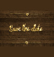 save date vector image vector image