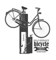 Self service bicycle station vector image vector image