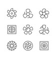 set line icons of fan vector image vector image