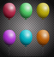 set of color balloons vector image vector image