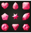 Set of gemstones with different shapes vector image vector image