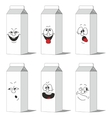 Set smiling paper packs 013 vector image vector image