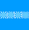 set sweet blue candy abstract vector image vector image