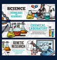 sketch banners for science and research vector image vector image