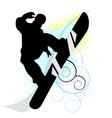 snowboard skiers vector image