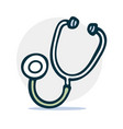 stethoscope simple sketch icon in cartoon style vector image vector image