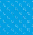 surprised monkey pattern seamless blue vector image vector image