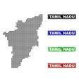 tamil nadu state map in dot style with grunge vector image vector image
