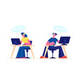 technical support call center or customer service vector image