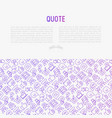 testimonials and quote concept vector image vector image