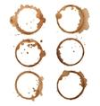 Traces coffee vector image vector image