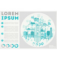 trendy abstract cityscape infographics vector image