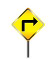 Turn Right traffic sign vector image vector image