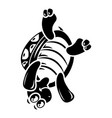 turtle on head icon simple style vector image