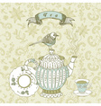 Vintage tea time background vector | Price: 1 Credit (USD $1)