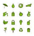 eco icons set cartoon vector image