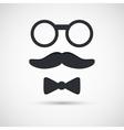 Retro eyeglasses vector image