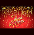 red party background happy birthday celebration vector image