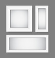 simple empty white frames vector image
