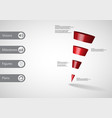 3d infographic template with sloping triangle vector image vector image