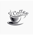 abstract coffee cup logo icon template vector image