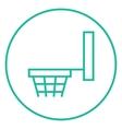 Basketball hoop line icon vector image vector image
