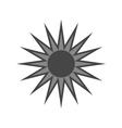 Black design element Light sign sun vector image vector image