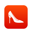 Bride shoes icon digital red vector image