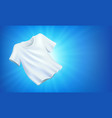 bright white clean clothes laundry on blue vector image vector image