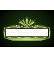 Brightly theater glowing green retro cinema neon vector image vector image