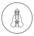 buddha icon black color in circle round vector image
