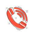 cartoon phone icon in comic style call pictogram vector image vector image