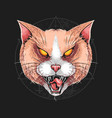 cat angry rage face artwork vector image