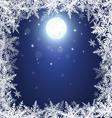 Christmas snowflakes and moon vector image