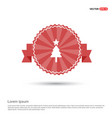 christmas tree icon - red ribbon banner vector image