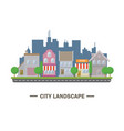city landscape flat design vector image