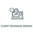 client technical service line icon client vector image vector image