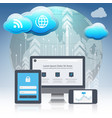 cloud computing concept design vector image