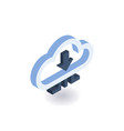 cloud technologies isometric icon vector image