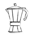 coffee kettle isolated vector image vector image